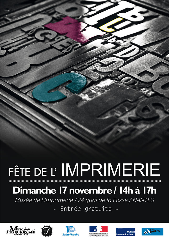 Affiche Musée de l'imprimerie - Léa Poisson