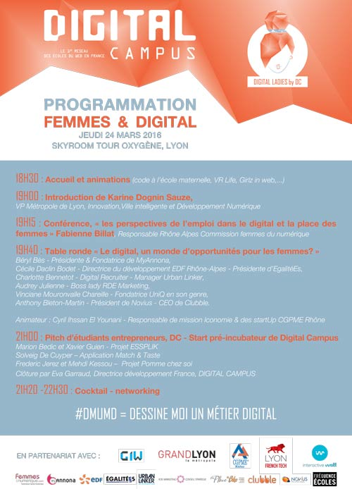 Femme Digital Ecole web Lyon