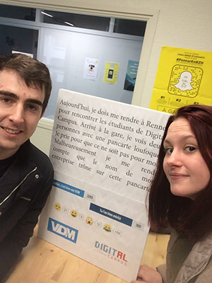 Les etudiants en Master Web Rennes rencontrent le fondateur de #VDM