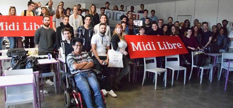 Hackathon avec le journal Midi Libre