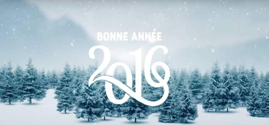 Nous vous souhaitons une bonne année 2016 !