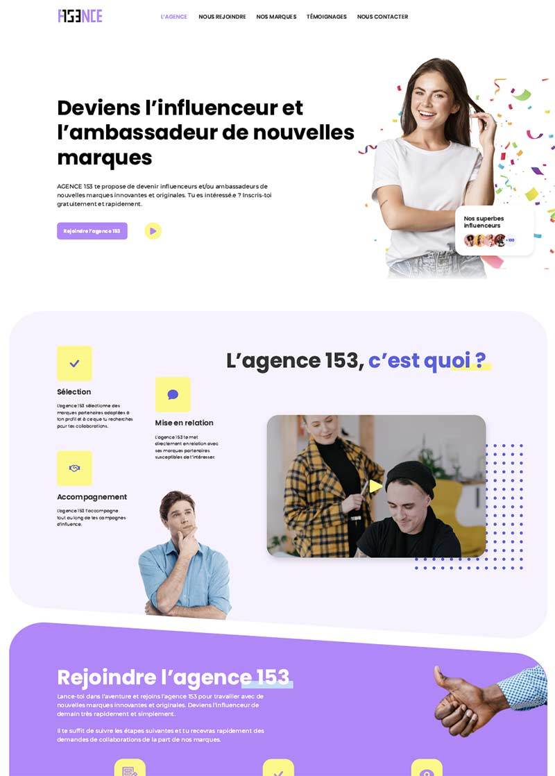 grands projets creation site web