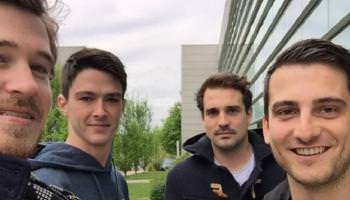 Gagnants du hackapress - Loïc Christophe Julien et Alexandre