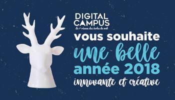 Bonne année 2018 ! digital campus ecole du web