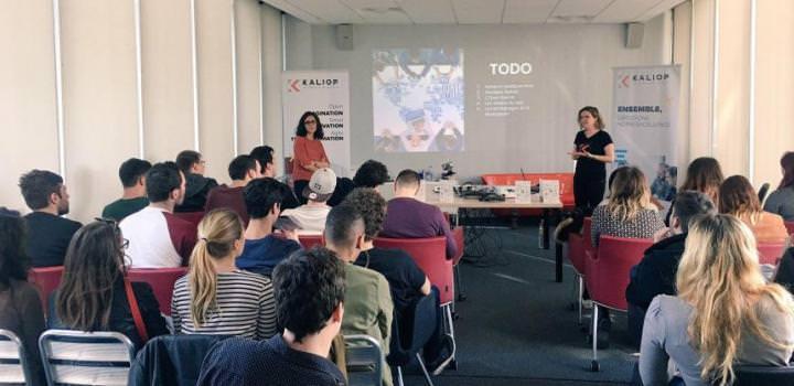 Les master 1 de Digital Campus Montpellier visite l'agence Kaliop